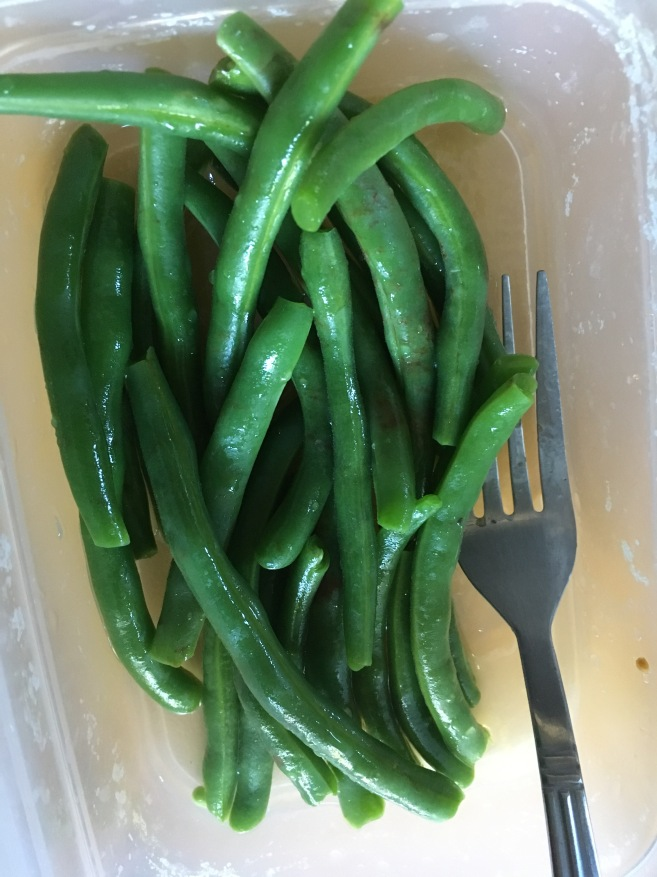 Lemony green beans from the refresh guide. They aight.